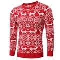 Hombres suéter high street wear hip hop grueso de alta calidad del nuevo diseño de gran tamaño suéter feo de la navidad pullover de lana hacia abajo