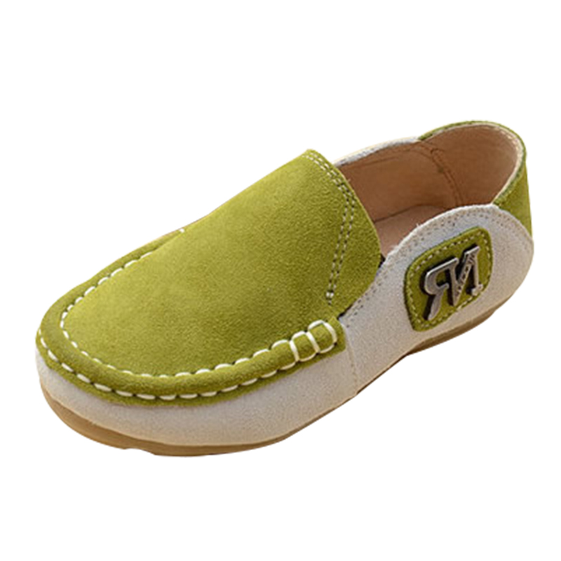 Cattle Nubuck Genuine  Leather  Boys Color Leisure Sports Shoes