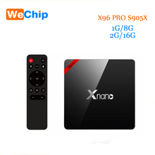 Original X96 Pro Android TV Box Android 6.0  Amlogic S905X Smart Tv Box Quad Core 1G+8G / 2G+16G BT 4.0 4K Media player