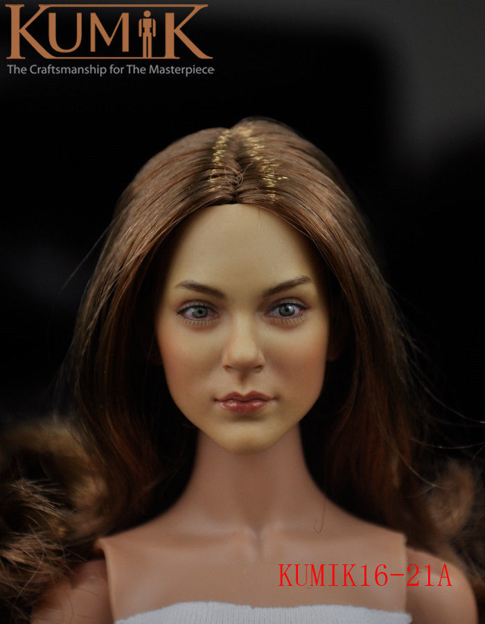 ФОТО 1:6 Scale KUMIK16-21A Gorgeous Lady's Headsculpt Fit 12'' Figure With Brown Hair
