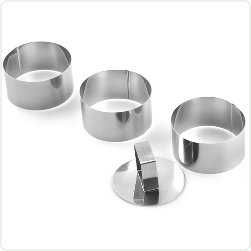 Confectionery Packing Tools Stand Cake Moulds Metal Bakeware Round Stainless Steel Stencils Cake Ring(7.5cm)