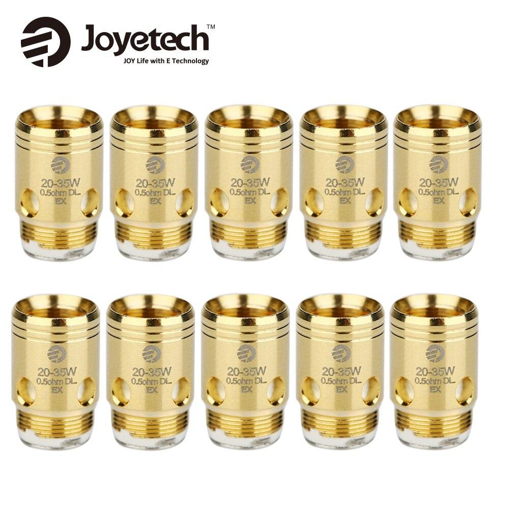 цена на Original 10pcs Joyetech EX Coil Head 0.5ohm DL & 1.2ohm MTL Coil Head for Exceed Series Atomizer Vape Spare Part EX Coil Head