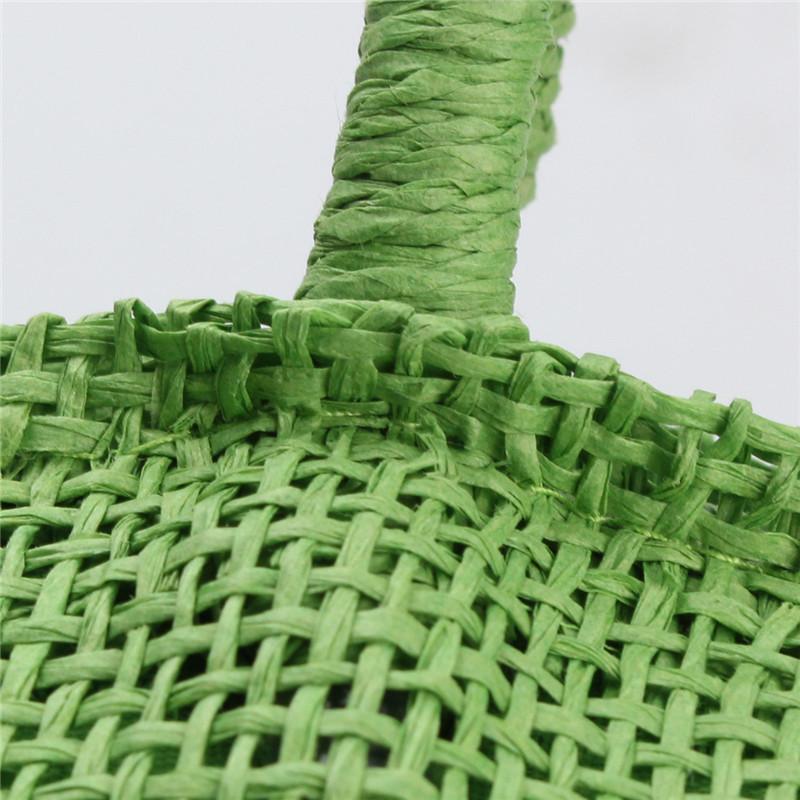 2017 Hot New Design Straw Popular Summer Style Weave Woven Shoulder Tote Shopping Beach Bag Purse Handbag Gift FreeShipping N770 17
