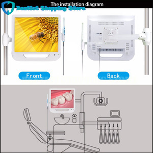 Image 3 - 17 дюймовый монитор USB/Wifi, стоматологическая фотокамера, эндоскоп, 6 светодиодных камер, стоматологическая камера