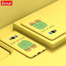Купить с кэшбэком Aveuri For Samsung Galaxy A50 A30 S10 Plus S10E Case Cute 3D Cartoon PC Cover Phone Case For Samsung Galaxy S8 S9 Plus Coque