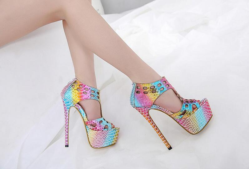 2018 summer new foreign trade sexy color fish head high-heeled waterproof sandals women's shoes 2015 summer women s high heeled shoes fish head shoes korea princess waterproof fine with sexy high heeled sandals