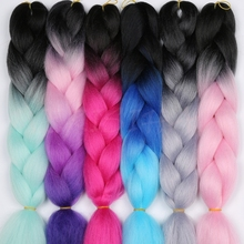 MERISIHAIR 24inch Ombre Kanekalon Synthetic Crochet Hair Extensions Jumbo Braids Hairstyles Blonde Red Blue Grey -in Jumbo Braids from Hair Extensions & Wigs on Aliexpress.com | Alibaba Group