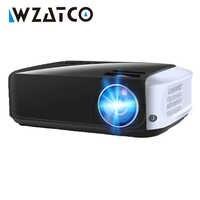 WZATCO T8 projecteur LED USB Android 9.0 en option Wifi Smart Home cinéma projecteurs HDMI Full HD 1080P projecteur LED