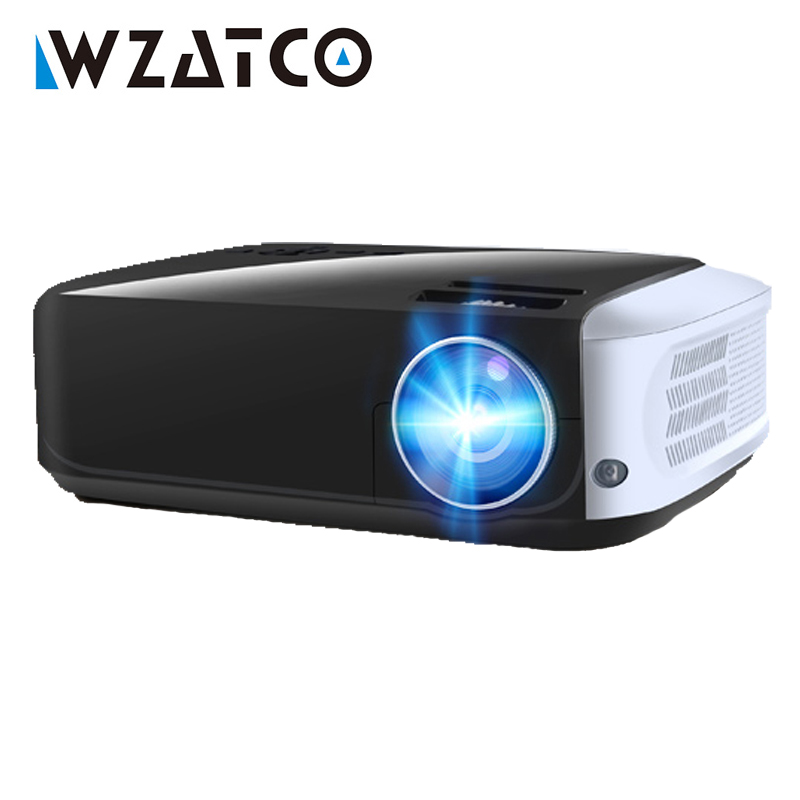 WZATCO T8 LED Projector USB Android 9.0 Optional Wifi Smart Home Theater Projectors HDMI Full HD 1080P Beamer LED Proyector Проектор