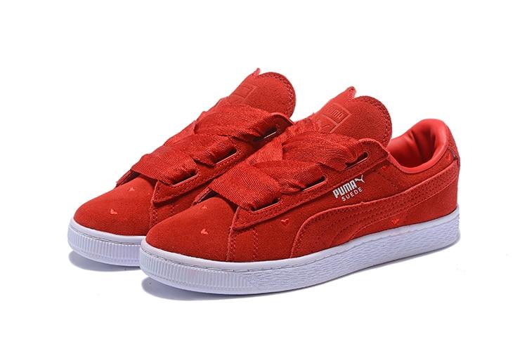 2018 New Arrival PUMA Womens Suede Heart Valentine women's Sneakers Badminton Shoes size 35.5-39 arrival original puma rihannas women s shoes pescara kawasaki breathable sneakers badminton shoes size36 39