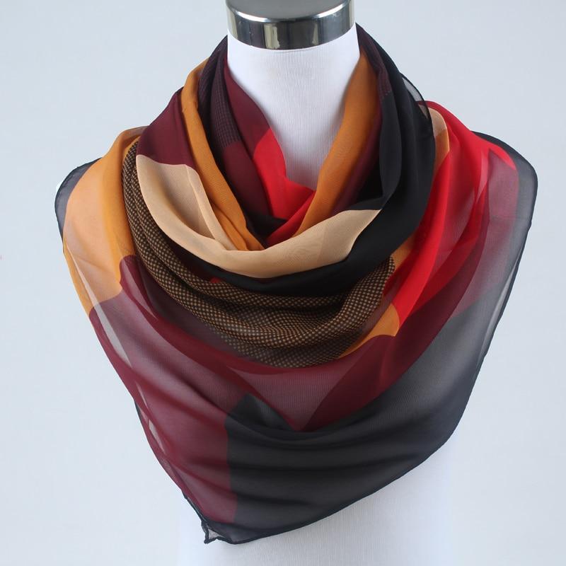 Nueva primavera 2019 moda mujer seda bufanda chiffon chales - Accesorios para la ropa - foto 3