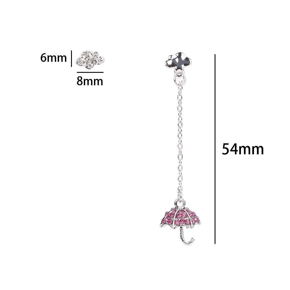 Стильный зонт серьги Асимметричный Кристалл зонтик Облако Висячие серьги Модные простые серьги для женщин девушки вечерние ювелирные изделия