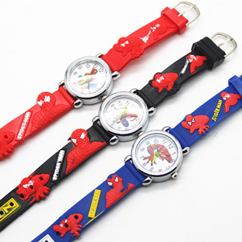 3d Spiderman Children Watch Boys And Girls Children Watch Superhero Silicone Belt