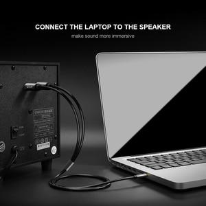 Image 3 - Qgeem Jack 3.5Mm Naar 6.35Mm * 2 Adapter Audio Kabel Voor Mixer Versterker Luidspreker Vergulde 6.5Mm 3.5 Jack Splitter Audio Kabel