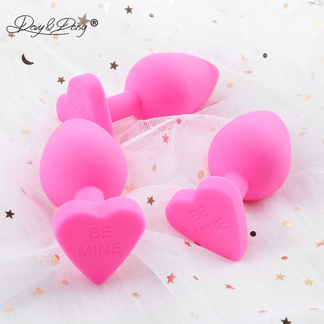 DAVYDAISY Lovely Heart Anal Butt Plug Medical Silicone Anal Plug Erotic Anal Trainer Adult Sex Accessories for Woman AC112