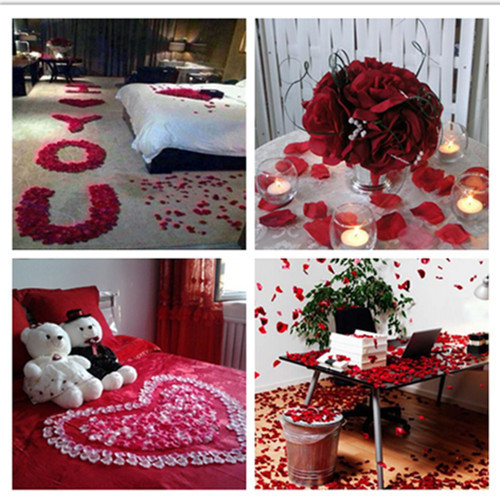 1000pc Lot Artificial Silk Rose Petals For Wedding Favor Party Decoration Carpet Flowers Petal In Dried