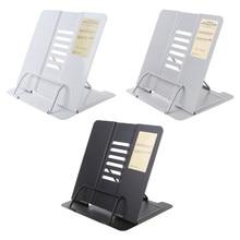 Портативный металлический Регулируемый держатель для чтения книг, подставка для документов l29k