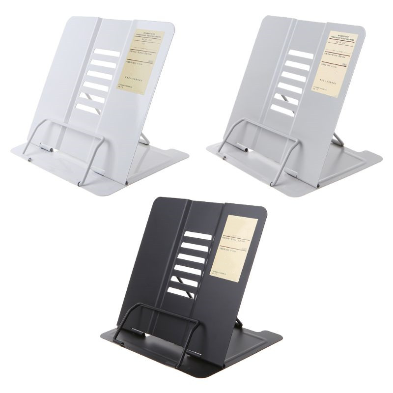 Portable Metal Adjustable Reading Book Holder Support Document Shelf Bookstand L29k