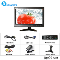 10.1 LCD HD Monitor Mini TV & Computer Display Color Screen 2 Channel Video Input Security Monitor With Speaker VGA HDMI BNC