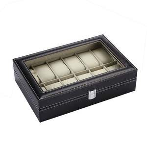 Slot-Case-Box-Case Watch-Box 12-Slots Compact-Size Soft Fashionable