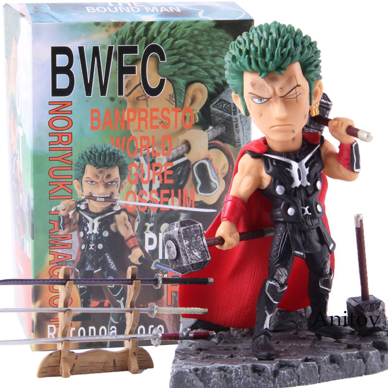 Anime One Piece Roronoa Zoro Thor Banpresto World Figure Colosseum BWFC PVC Action Figure Collectible Model Toy