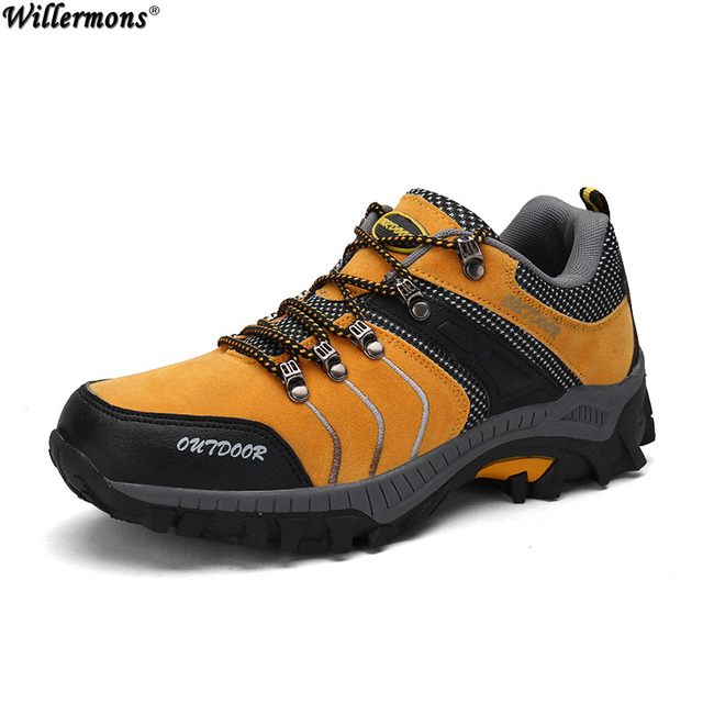 Men's PU Leather Sports Shoes Outdoor Climbing Hiking Running Shoes