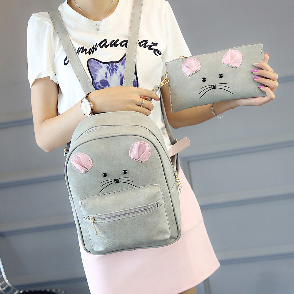 cartoon animal backpack mouse Lash package composite backpack