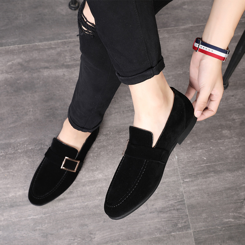 2019 Fashion Loafers Mlae Dress Shoes Men   Suede     Leather   Shoes Classic Business Party Office Wedding Shoes Men's Flats Shoes