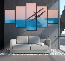 Seaplane painting on canvas Modern Decor HD Print Painting 5 Piece Canvas Art painting poster Painting Canvas Room Artwork art tech a5 seaplane