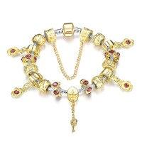 Luxe Goud Bedels Armbanden Voor Vrouwen Handgemaakte Vriendschap Crystal Liefde Sieraden Geschenken Pulseras Feminina
