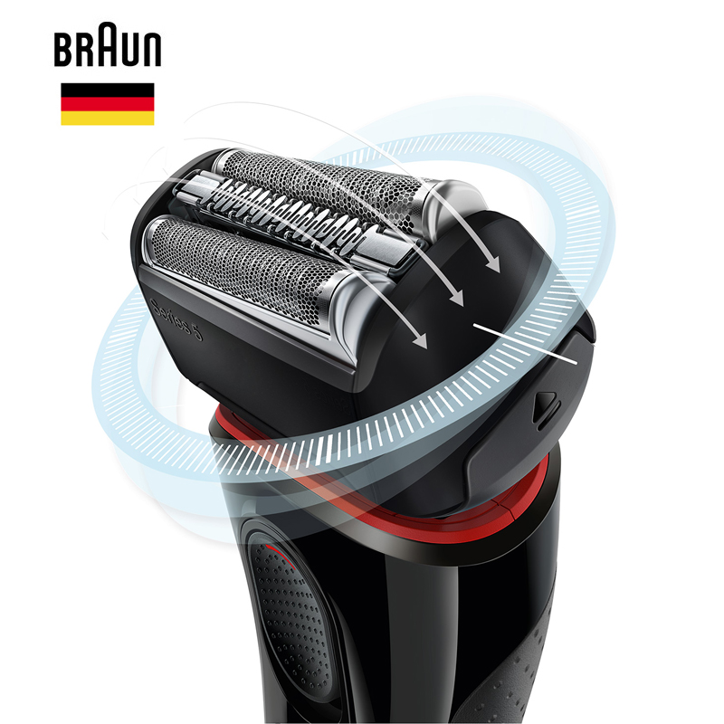 Braun Men'S Electric Foil Shaver Series 5 5030s Rechargeable Razor For Men Beard Shaving Machine Precision Trimmer 100-240v 1
