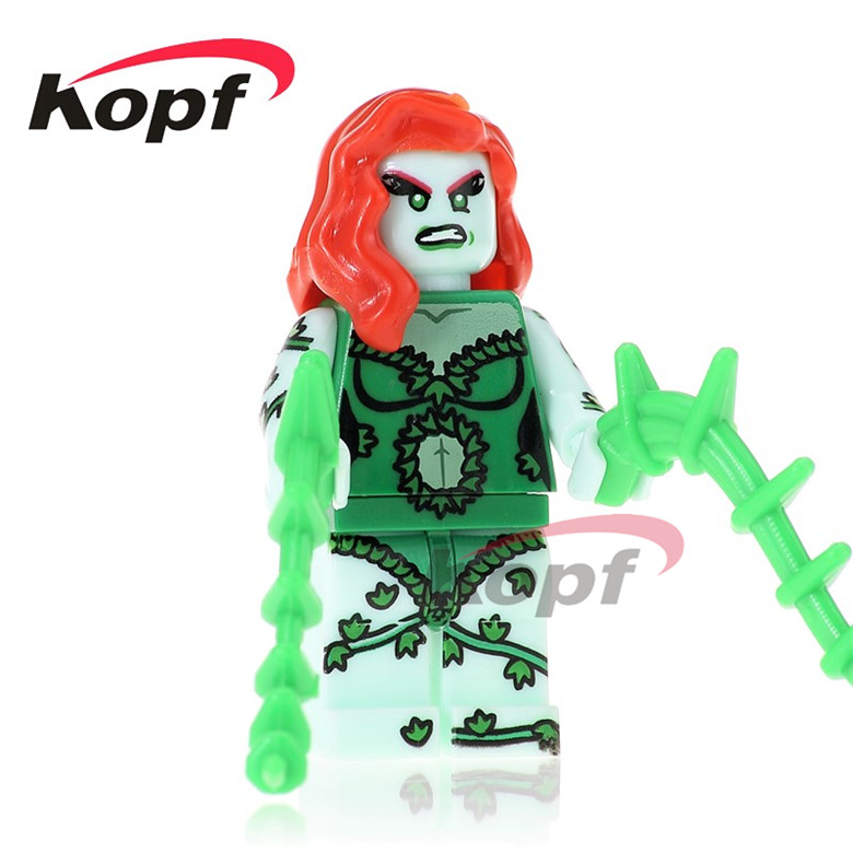 20Pcs PG227 Building Blocks Poison Ivy Jesse Quick Luchino Nefaria Ghost Maker Super Heroes Bricks Education Toys for children