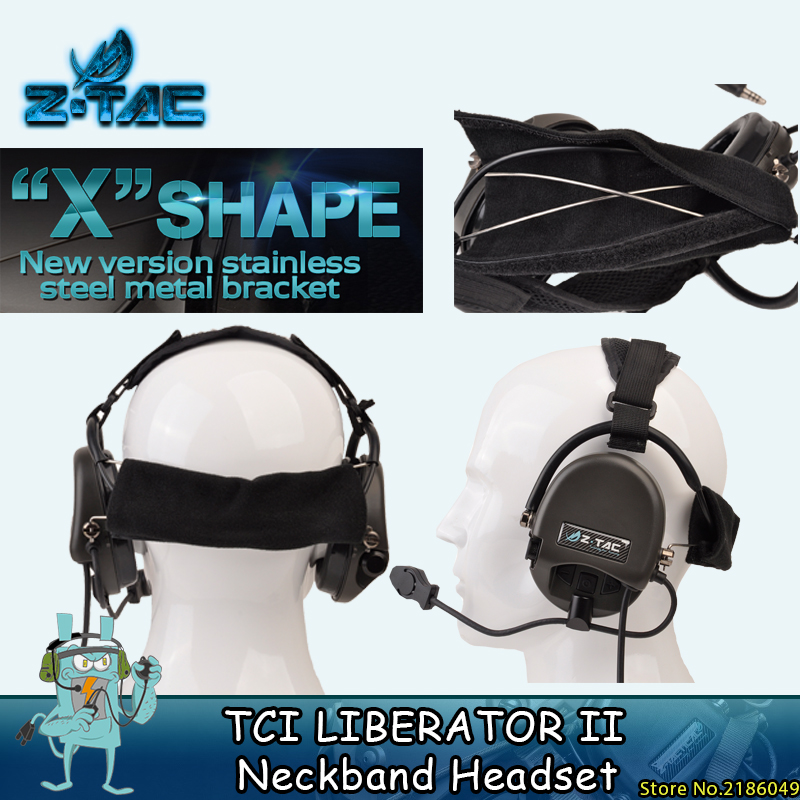 Z Tactical Softair Pilot Headset Comtac TCI Liberator II деколте Sordin Thoradin Пикап Шумопотискане Ловни слушалки Z039