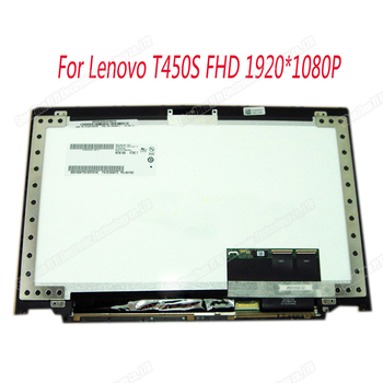 Genuine 14 inch lcd screen 1920*1080 B140HAN01.3 LCD Displays For Lenovo T450S Touch screen Assembly with frame