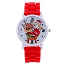 Модные Рождество подарок желе Рождество Браслеты Санта Клаус силиконовые подарок кварцевые наручные часы TT @ 88