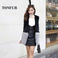 2019 Vintage real tan sheep fur gilet women wholesale retail natural genuine raccoon fur vest mix with mongolia sheep fur wsr226