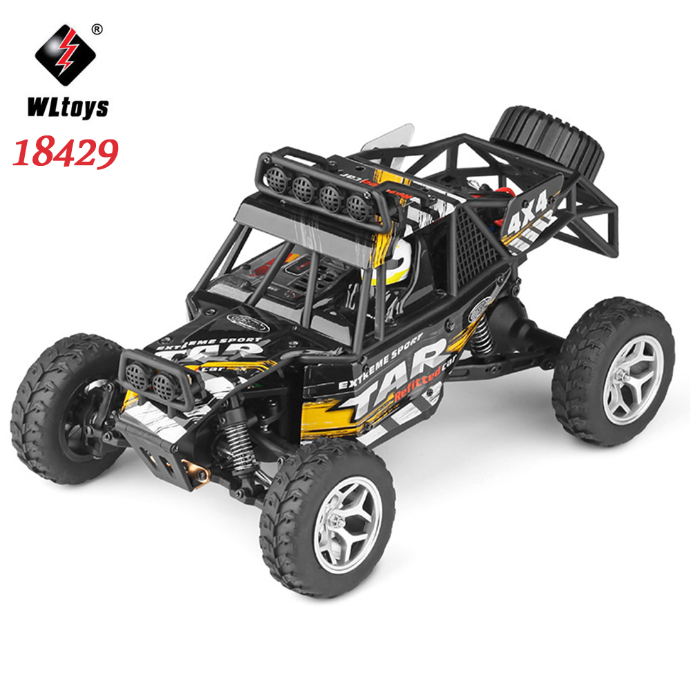 WLtoys 18429 1:18 RC Car Toys for Children Remote Control Electric 4WD Desert Off-road Car Gift for Kids цены