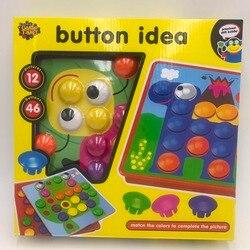 Развивающие игрушки головоломки для детей Мозаика Пуговицы Button idea, 3д пазлы ,самые крутые игрушки играть с ребенком хит продаж 2018 ,новогодни...