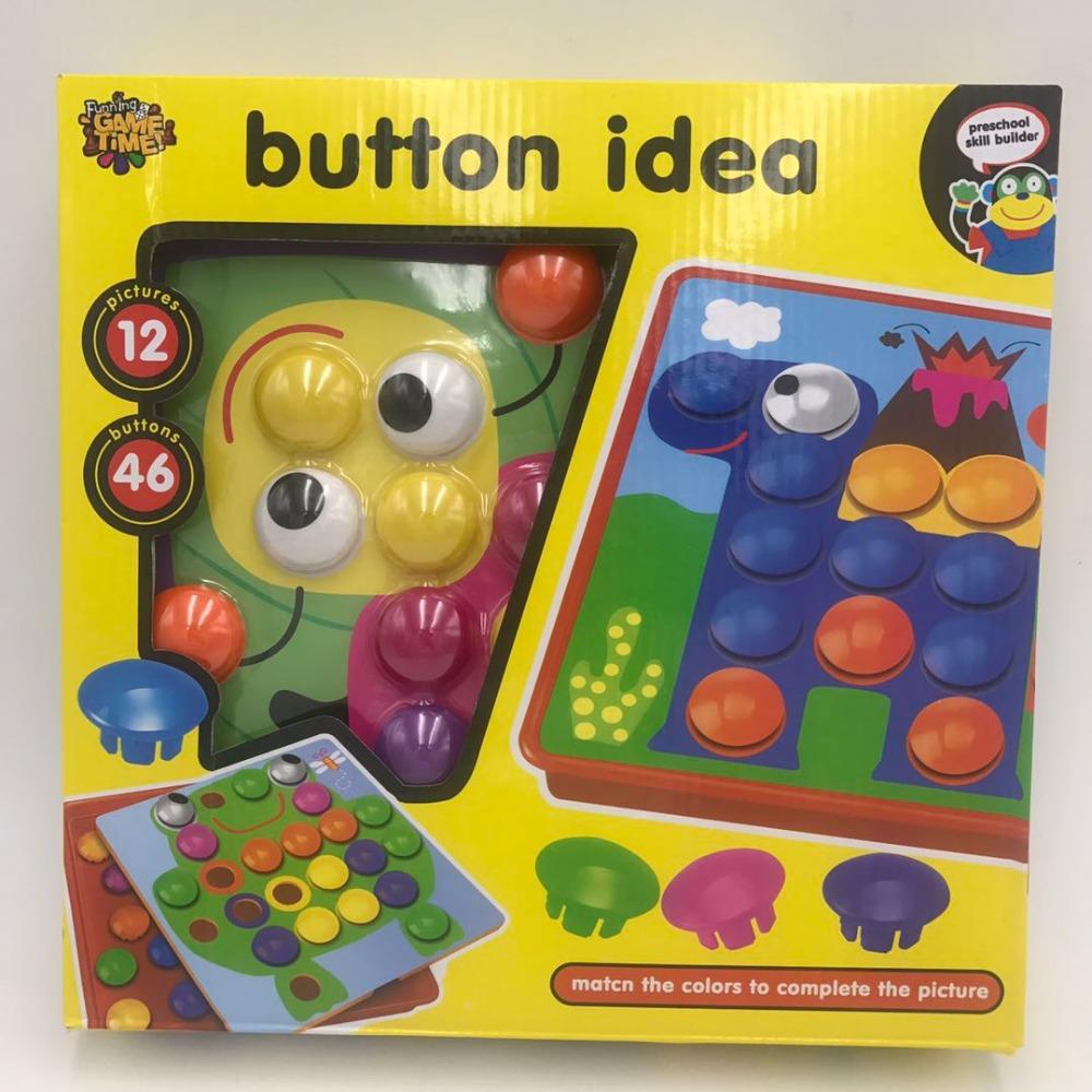 Giocattoli educativi per bambini Creativo Mosaico Fungo Del Chiodo Kit Arte Bambini 3D Puzzle Giocattoli regalo Per I Bambini del bambino giocattoli divertenti