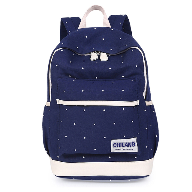 3Pcs/Sets Korean Casual Women Backpacks Canvas Book Bags Preppy Style School Back Bags for Teenage Girls Composite Bag 2
