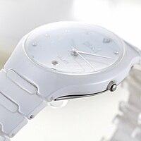 DALISHI Brand Men Quartz Watch Male Business Dress Wristwatch Mens White Ceramic Clock 30M Waterproof Calendar Relogio Feminino