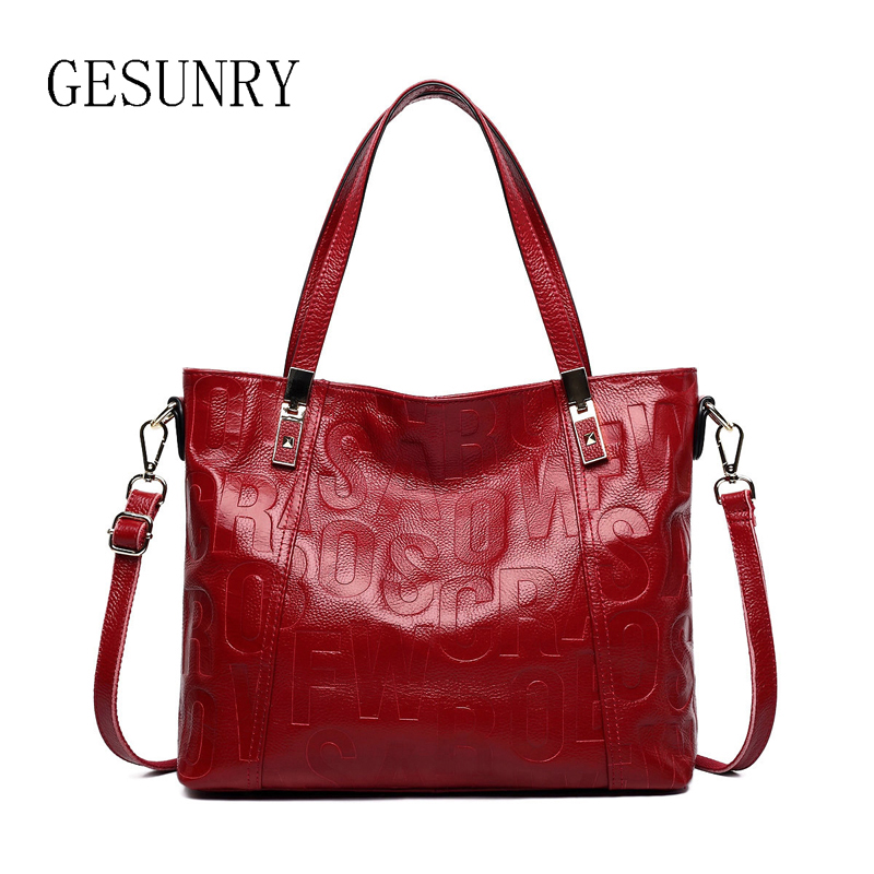 ФОТО New Genuine leather bags ladies real leather bags handbags women famous brands designer handbags high quality tote bag for women