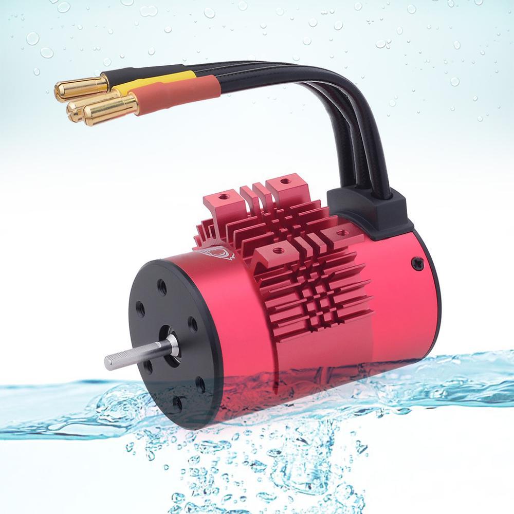 Image 2 - SURPASSHOBBY KK Waterproof Combo 3660 5.0mm 1750KV 2200KV 2600KV 3100KV 3500KV Brushless Motor w/Heat Sink 60A ESC for RC Car-in Parts & Accessories from Toys & Hobbies