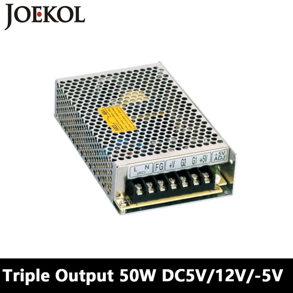 Triple Output Switching Power Supply 50W 5V 12V -5V,Ac Dc Converter For Led Strip Light,110V/220V Transformer To DC 5V/12V/-5V triple output switching power supply 30w 5v 12v 5v ac dc converter for led strip light 110v 220v transformer to dc 5v 12v 5v