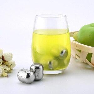 Image 4 - Nuovo Youpin Cerchio Gioia del Cubo di Ghiaccio 304 In Acciaio Inox Lavabile Uso a Lungo termine fabbricatore di Ghiaccio Per Il Vino Tappi di Sughero di Frutta succo di frutta