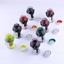 1pc Große Kapazität 50ml Glas Tinte Flasche für Brunnen Stift 9 Farbe für Wählen Nizza Nicht carbon farbige Tinte Schule Liefert