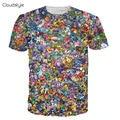 2016 Новые Поступления Новая марка одежды 3d печати футболка Мода galaxy shibe дож печати с коротким рукавом 3d майка много забавный 3d топ