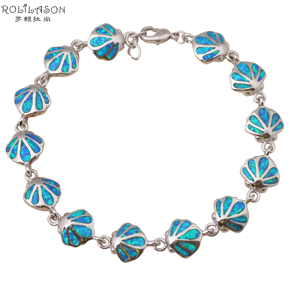 Top Sale Wholesale & retail Blue fire Opal silver Fashion Jewelry Bracelets Beautiful gifts OB020