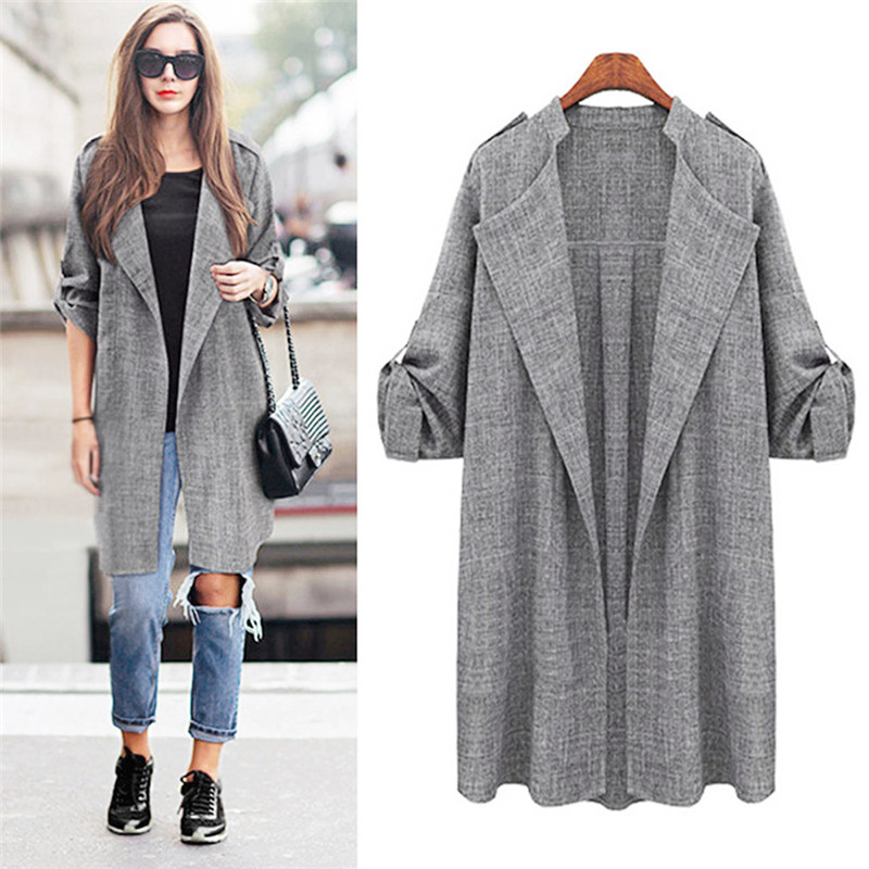 New Style Fashion Womens Female Overcoat Cardigan Open Front Coat Long Cloak Overcoat Waterfall Autumn Winter Cardigan #2S