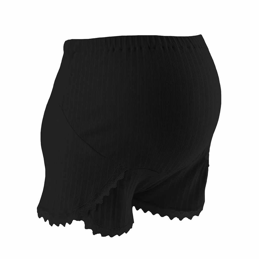 CHAMSGEND женские для беременных до середины бедра кружева Pettipant Бесшовные Мягкий живот Короткие штаны бедра и пояс для талии MAR24